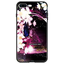 藤家 Fujiya iPhone8P/7P (5.5) 幻想デザイン ガラスハイブリッド ケース ghp7053-bk-e-ip8p