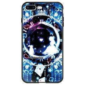 藤家 Fujiya iPhone8P/7P (5.5) 幻想デザイン ガラスハイブリッド ケース ghp7053-bk-f-ip8p