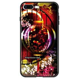 藤家 Fujiya iPhone8P/7P (5.5) 幻想デザイン ガラスハイブリッド ケース ghp7053-bk-g-ip8p