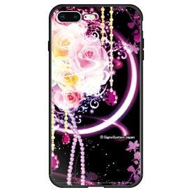 藤家 Fujiya iPhone8P/7P (5.5) 幻想デザイン ガラスハイブリッド ケース ghp7053-bk-h-ip8p