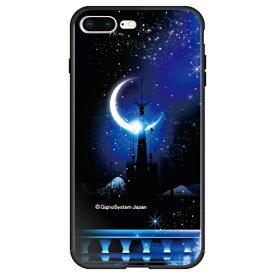 藤家 Fujiya iPhone8P/7P (5.5) 幻想デザイン ガラスハイブリッド ケース ghp7053-bk-i-ip8p