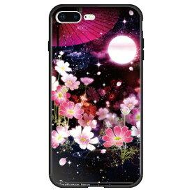 藤家 Fujiya iPhone8P/7P (5.5) 幻想デザイン ガラスハイブリッド ケース ghp7053-bk-l-ip8p