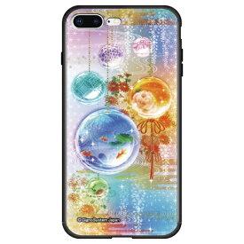 藤家 Fujiya iPhone8P/7P (5.5) 幻想デザイン ガラスハイブリッド ケース ghp7053-bk-m-ip8p