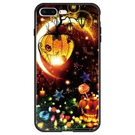 藤家 Fujiya iPhone8P/7P (5.5) 幻想デザイン ガラスハイブリッド ケース ghp7053-bk-n-ip8p