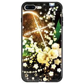 藤家 Fujiya iPhone8P/7P (5.5) 幻想デザイン ガラスハイブリッド ケース ghp7053-bk-o-ip8p