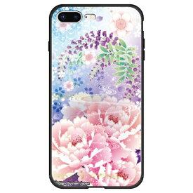 藤家 Fujiya iPhone8P/7P (5.5) 幻想デザイン ガラスハイブリッド ケース ghp7053-bk-q-ip8p