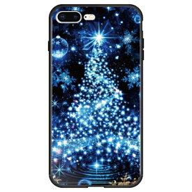 藤家 Fujiya iPhone8P/7P (5.5) 幻想デザイン ガラスハイブリッド ケース ghp7053-bk-s-ip8p
