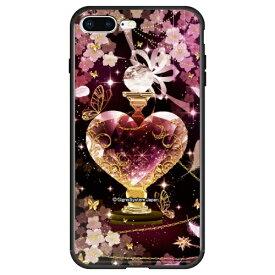 藤家 Fujiya iPhone8P/7P (5.5) 幻想デザイン ガラスハイブリッド ケース ghp7053-bk-t-ip8p