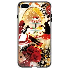 藤家 Fujiya iPhone8P/7P (5.5) 幻想デザイン ガラスハイブリッド ケース ghp7053-bk-u-ip8p