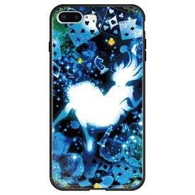藤家 Fujiya iPhone8P/7P (5.5) 幻想デザイン ガラスハイブリッド ケース ghp7053-bk-w-ip8p