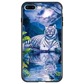 藤家 Fujiya iPhone8P/7P (5.5) ラッセン ガラスハイブリッド ケース ghp7041-bk-d-ip8p