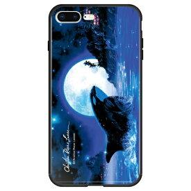 藤家 Fujiya iPhone8P/7P (5.5) ラッセン ガラスハイブリッド ケース ghp7041-bk-e-ip8p