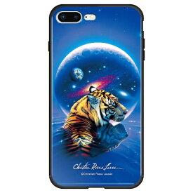 藤家 Fujiya iPhone8P/7P (5.5) ラッセン ガラスハイブリッド ケース ghp7042-bk-a-ip8p