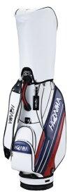 本間ゴルフ キャディバッグ HONMA サイドライン入りスポーツタイプキャディバッグ(9.0型/ホワイト×ネイビー) CB-12016