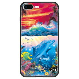藤家 Fujiya iPhone8P/7P (5.5) ラッセン ガラスハイブリッド ケース ghp7043-bk-c-ip8p