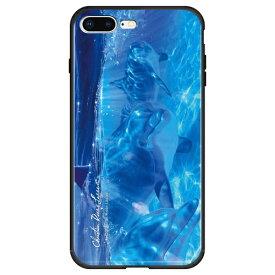 藤家 Fujiya iPhone8P/7P (5.5) ラッセン ガラスハイブリッド ケース ghp7044-bk-b-ip8p