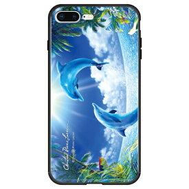 藤家 Fujiya iPhone8P/7P (5.5) ラッセン ガラスハイブリッド ケース ghp7044-bk-c-ip8p