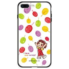 藤家 Fujiya iPhone8P/7P (5.5) 不二家 ガラスハイブリッド ケース ghp7050-bk-f-ip8p