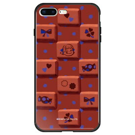 藤家 Fujiya iPhone8P/7P (5.5) 不二家 ガラスハイブリッド ケース ghp7050-bk-g-ip8p