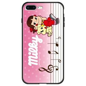 藤家 Fujiya iPhone8P/7P (5.5) 不二家 ガラスハイブリッド ケース ghp7050-bk-i-ip8p