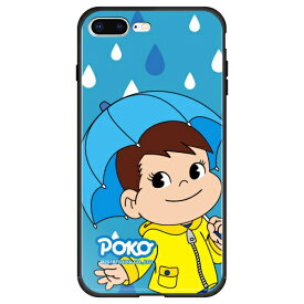 藤家 Fujiya iPhone8P/7P (5.5) 不二家 ガラスハイブリッド ケース ghp7050-bk-m-ip8p