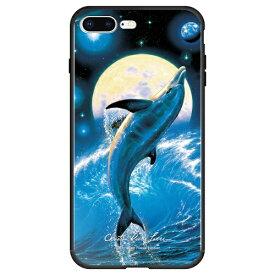 藤家 Fujiya iPhone8P/7P (5.5) ラッセン ガラスハイブリッド ケース ghp7042-bk-e-ip8p