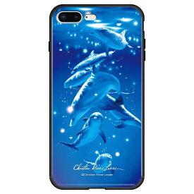 藤家 Fujiya iPhone8P/7P (5.5) ラッセン ガラスハイブリッド ケース ghp7043-bk-a-ip8p