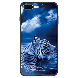 藤家 Fujiya iPhone8P/7P (5.5) ラッセン ガラスハイブリッド ケース ghp7044-bk-d-ip8p