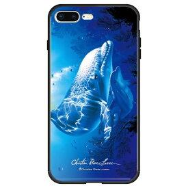 藤家 Fujiya iPhone8P/7P (5.5) ラッセン ガラスハイブリッド ケース ghp7044-bk-e-ip8p
