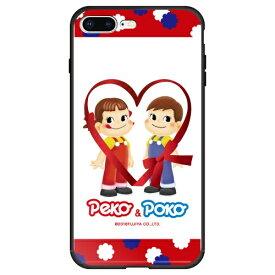 藤家 Fujiya iPhone8P/7P (5.5) 不二家 ガラスハイブリッド ケース ghp7050-bk-d-ip8p