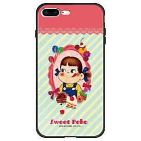 藤家 Fujiya iPhone8P/7P (5.5) 不二家 ガラスハイブリッド ケース ghp7050-bk-h-ip8p