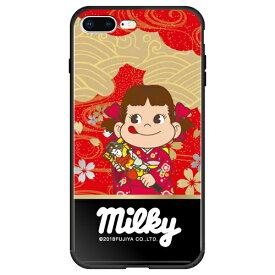 藤家 Fujiya iPhone8P/7P (5.5) 不二家 ガラスハイブリッド ケース ghp7050-bk-n-ip8p