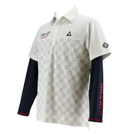 ルコック le coq レディース ゴルフ レインウエア デザインレインワンピース(LLサイズ/ホワイト×ブラック水玉)QGMPJA04