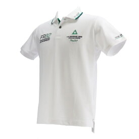 ルコック le coq メンズ 半そでシャツ ドライ鹿の子シーズンマーキング半袖シャツ(LLサイズ/ホワイト)QGMPJA25