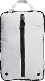 アディダス adidas シューズバッグ(ホワイト×ブラック/24x37x15cm) GUV60