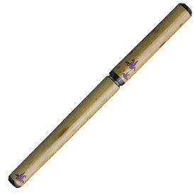 あかしや 天然竹筆ペン 鶴/透明ケース AK2700MP-31