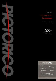 ピクトリコ PICTORICO PSG160-A3+/20 〔インクジェット〕ピクトリコプロ・シャイニーゴールド 光沢写真用紙 245μm [A3ノビ /20枚]