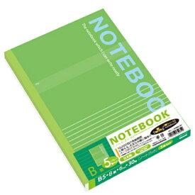 ナカバヤシ Nakabayashi 実用ノートB5/B罫グリーン30枚5冊 SD-ノ-306B-5PG