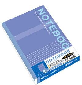 ナカバヤシ Nakabayashi 実用ノートB5/A罫ブルー30枚10冊 SD-ノ-306A-10PB