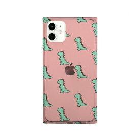 ROA ロア iPhone 11 ソフト スクエアケース ダイナソーパターン ピンク AKAN