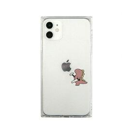 ROA ロア iPhone 11 ソフト スクエアケース おしごとダイナソー 日曜大工 ピンク AKAN