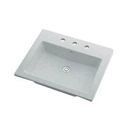 カクダイ KAKUDAI カクダイ 493-009 角型洗面器/3ホール