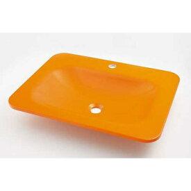 カクダイ KAKUDAI カクダイ MR-493220Y 角型洗面器Gオレンジ