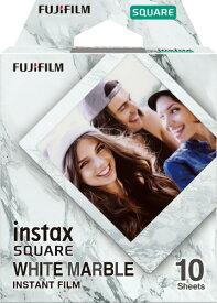 富士フイルム FUJIFILM チェキ インスタントフィルム instax SQUARE用フィルム「WHITE MARBLE」 1パック(10枚入) ホワイトマーブル