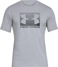 アンダーアーマー UNDER ARMOUR MDサイズ メンズ トレーニングTシャツ UAボックスド スポーツスタイル ショートスリーブ(スチールライトヘザー×グラファイト×ブラック) 1358569
