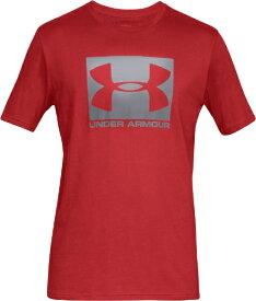 アンダーアーマー UNDER ARMOUR MDサイズ メンズ トレーニングTシャツ UAボックスド スポーツスタイル ショートスリーブ(レッド×スチール) 1358569