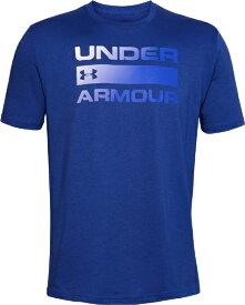 アンダーアーマー UNDER ARMOUR MDサイズ メンズ トレーニングTシャツ UAチーム イシュー ワードマーク ショートスリーブ(アメリカンブルー×バーサブルー) 1358570