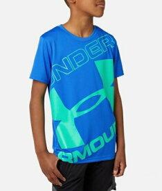 アンダーアーマー UNDER ARMOUR YSMサイズ ボーイズ トレーニングTシャツ UAテック ブランド ロゴ ショートスリーブ(バーサブルー×ホワイト) 1353546