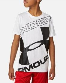 アンダーアーマー UNDER ARMOUR YSMサイズ ボーイズ トレーニングTシャツ UAテック ブランド ロゴ ショートスリーブ(ホワイト) 1353546