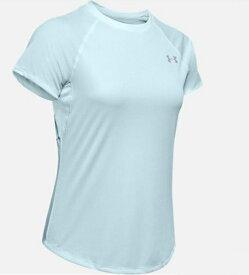 アンダーアーマー UNDER ARMOUR LGサイズ レディース トレーニングTシャツ UAスピードストライド ショートスリーブ(リフトブルー×リフトブルー×リフレクティブ) 1326462